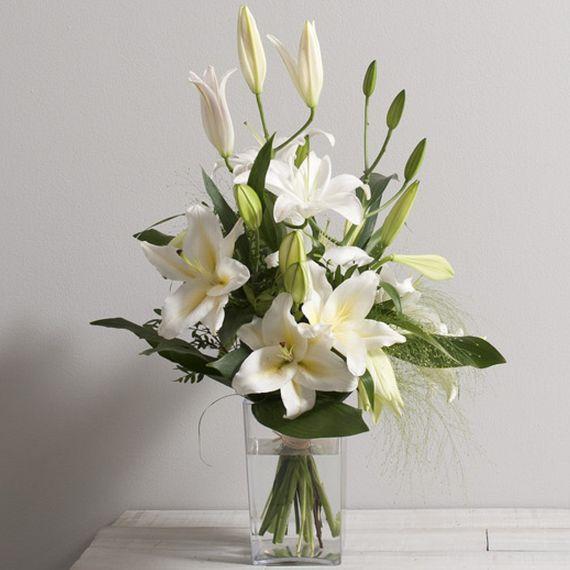 Bouquet de lys blancs Délice 4DE InterfloraWIKIFLEURS