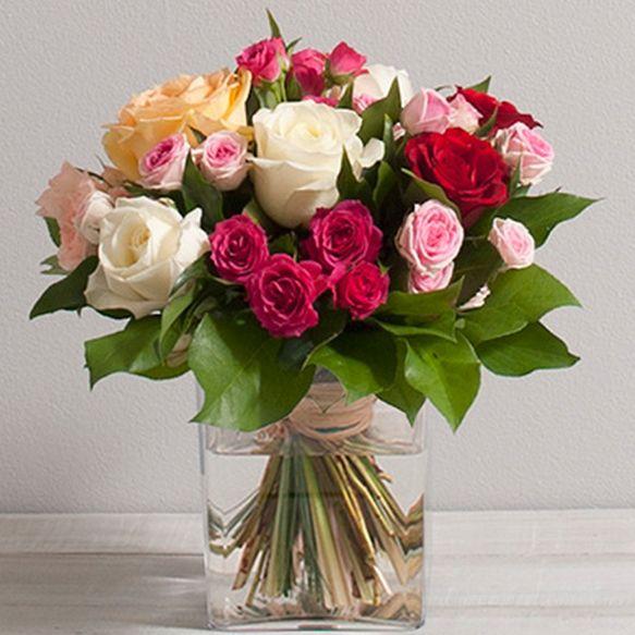 Bouquet de roses sentiments 1se interflora wikifleurs for Vente de bouquet de fleurs en ligne